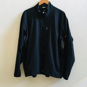 NIKE Dri-fit black zip up lightweight jacket XL